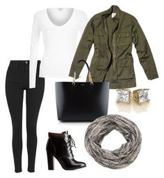 """""""Fall layers w/ booties"""" by star-lightt ❤ liked on Polyvore featuring Topshop, Charlotte Russe, River Island, Nili Lotan, Yves Saint Laurent and maurices"""
