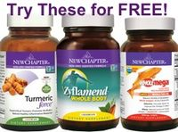 Free New Chapter Gift with an order. Now's the time to try these great new products while supplies last!