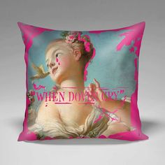 """""""When Doves Cry"""" pillow by www.apartment415.com"""
