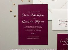 Love the colour of the invitations