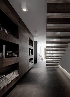 timber treads and shelving