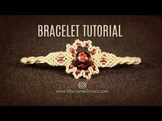 Big Bead Flower Bracelet Tutorial by Macrame School - YouTube