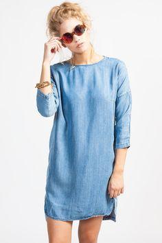 Koshka - Just Female 'Line' Denim Dress, $84.00 (http://www.shopkoshka.com/new-in/just-female-line-denim-dress/)
