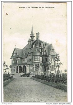 CHATEAU NOTTEBOHN, Brecht, Antwerp, Belgium. Postcard. Aka Chateau Notenboom and Hof van Notenboom. 1908 postcard.