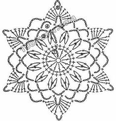 trendy Ideas for crochet granny square star beautiful Crochet Snowflake Pattern, Crochet Stars, Crochet Motifs, Crochet Snowflakes, Crochet Angels, Crochet Diagram, Thread Crochet, Crochet Granny, Crochet Doilies