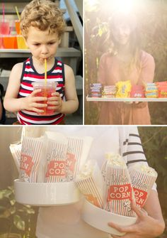 We are making outdoor movie night happen this summer.food ideas for outdoor movie night //oh happy day Movie Night Snacks, Movie Night Party, Family Movie Night, Party Time, Night Food, Backyard Movie Nights, Outdoor Movie Nights, Outdoor Movie Party, At Home Movie Theater