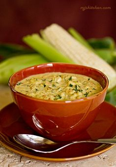 Calabacitas Chowder (Summer Squash, Corn, and Green Chile) Chowder made with New Mexico green chile, squash and sweet corn