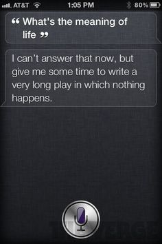 I think if I got a new ipone, I'd be plenty entertained with just Siri.