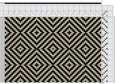 My first diamond pattern on 4 shafts - Media - Weaving Today ...
