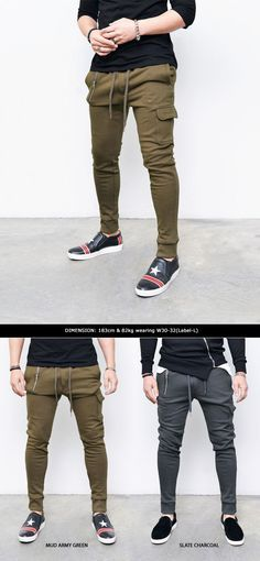 Bottoms :: Sweatpants :: Re) Unbalanced Zip & Cargo Cuffed Jogger-Sweatpants 186 - Mens Fashion Clothing For An Attractive Guy Look