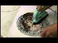 Ways to use doilies as stencils and printing materials with encaustic.