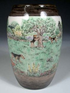 Dogs Industrious Small Porcelain Bisque Beswick Terrier, Perfect.