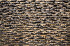 沖家室の土瓦の壁 ( その他文化活動 ) - 鯛の里日記 - Yahoo!ブログ Z Brick, Brick Tiles, Roof Tiles, Brick Wall, Brick Interior, Asian Interior, Roof Replacement Cost, Facade Pattern, Japanese Garden Design