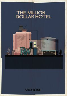Federico Babina's series of illustrations that takes a look at iconic pieces of architecture in film. Film Images, Famous Architecture, Architecture Drawings, Famous Movies, Famous Art, Design Research, Alternative Movie Posters, Graphic Illustration, Graphic Design