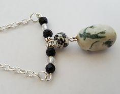Zebra Jasper Stone Boho Necklace - Birthday, Anniversary, Christmas, Mother's…