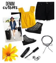 """""""Denim cutoffs"""" by vivistyle21 ❤ liked on Polyvore featuring Boohoo, J.Crew and Bobbi Brown Cosmetics"""