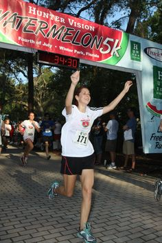 Runners, walkers and fitness enthusiasts of all ages will have summertime fun at the Hunter Vision Watermelon 5k, July 4th on Park Avenue in Winter Park, FL    http://www.trackshack.com/events-detail.php?id=114