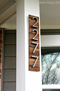 """DIY house numbers ideas that will give your home a little creative """"oomph!"""" DIY house numbers ideas that will give your home a little creative """"oomph!"""" DIY house numbers ideas that will give your home a little creative """"oomph! Paint Stir Sticks, Painted Sticks, Easy Diy Projects, Home Projects, Weekend Projects, Project Ideas, Home Renovation, Home Remodeling, Sweet Home"""