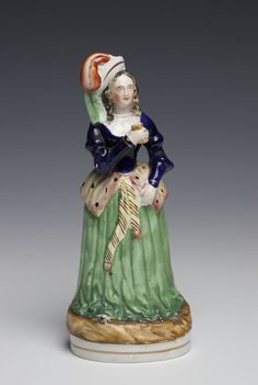 Earthenware figure of Angiolina Bosio ca.1858, Staffordshire, England | V&A Search the Collections
