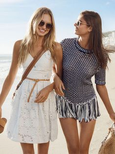Taylor Hill & Romee Strijd for Michael Kors Summer 2017.