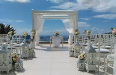 Sky..  Santorini Weddings, Wedding venue, Wedding ceremony and reception, Sunset view.