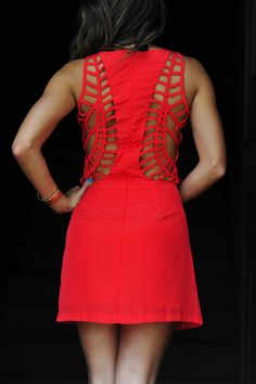 Heart Racing Dress: Bright Red