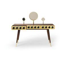 MONOCLES Dressing Table | Essentials Home | #dressingtable #midcenturymodernfurniture #brassdressingtable See more: https://www.brabbu.com/en/all-products.php
