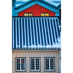 Detail of a house in Reykjavik Iceland Canvas Art - Panoramic Images (27 x 9)