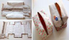 Como Costurar Lindas Bolsinhas de Zíper no Formato Quadrado com Restos de Tecido