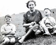 Idyllic childhood: Paul McCartney was born in Liverpool on 18 June 1942, and his brother, Michael (far right) arrived four years later. His mother Mary, sadly died of cancer in 1956.