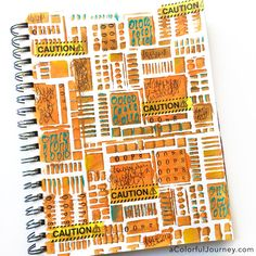 Caution, OOPS in Progress, a stencil and art journaling tutorial by Carolyn Dube