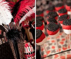 Las Vegas Style Casino Party...love the feathers and can add a masquerade theme to it!