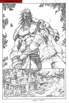 Kwan Chang :: For Sale Artwork :: Inhuman # 3 by artist Joe Madureira