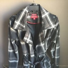 !!HP!! Plaid trench coat plaid trench coat  HOST PICK 3/4/16!!                                                        size xL water repellent  no trading  fast shipping Merona Jackets & Coats Trench Coats