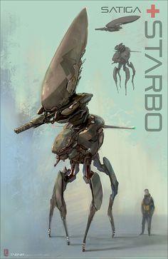 Starbo Aerial Drone Tank by Tabnir.deviantart.com on @deviantART