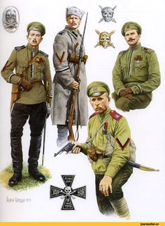 Everyone who is fascinating topic of the First World War or the formation of the Russian army are often faced with a very vague periodically split Russian army period 1917 Military Diorama, Military Art, Military History, Imperial Army, Imperial Russia, Ww1 Soldiers, Ww2 Uniforms, Military Insignia, Ancient History
