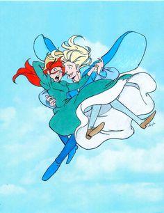 HMC: Howl and Sophie Flying by Saphari on deviantART