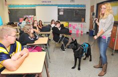 Service dog visit provides autism lesson to South Allegheny middle schoolers -- triblive.com