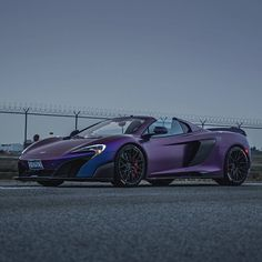 """292 Likes, 3 Comments - Marcel Lech 📷 (@marcel_lech) on Instagram: """"Purple Droptop #tricolor #675lt @mclaren @purwheels"""""""