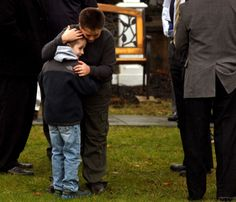 A boy comforts a friend at the funeral for Sandy Hook Elementary School student Jack Pinto, Newtown Shooting, Sandy Hook, School Shootings, State Police, Funeral, Elementary Schools, Student, Couple Photos, Couple Shots