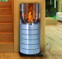 Pureflame Titan - Free Standing Ethanol Fireplace
