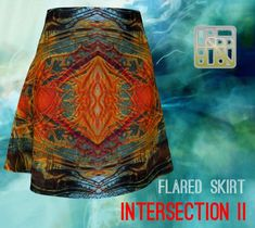 Fall Skirts, Printed Skirts, Flare Skirt, Paper Goods, Artwork Prints, Knitted Fabric, Bag Accessories, Vibrant, Clothes For Women