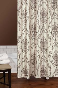 Cream And Brown Shower Curtain Art Shower Curtain Brown Shower