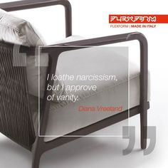 "FLEXFORM: ""I loathe narcissism but I approve of vanity."" These were the words of Diana Vre ... http://www.davincilifestyle.com/flexform-i-loathe-narcissism-but-i-approve-of-vanity-these-were-the-words-of-diana-vre/   ""I loathe narcissism but I approve of vanity."" These were the words of Diana Vreeland, the legendary iconic American journalist of the 1960s fashion world. Like her, We also do not believe in mere exercises in aesthetics but rather in the fu"