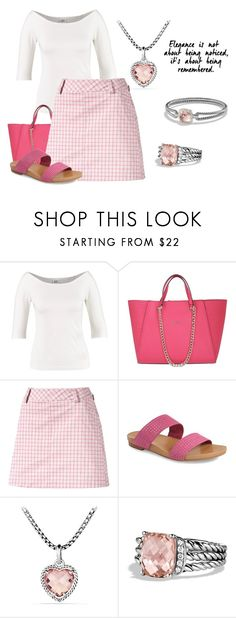 """""""in the pink"""" by citas ❤ liked on Polyvore featuring Vero Moda, GUESS, Puma, Johnston & Murphy and David Yurman"""
