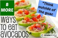 Attention #avocado lovers: There's more to these creamy green #superfoods than guacamole! Think outside the guac with these creative #recipes. | via @SparkPeople #recipe #healthy #appetizer #snack