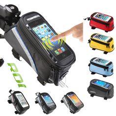 ROSWHEEL 자전거 가방 자전거 프레임 아이폰 가방 홀더 파니 휴대 전화 가방 케이스 파우치
