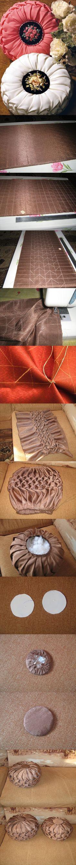 DIY Satin Puffed Beanbag/Wheel Cushion