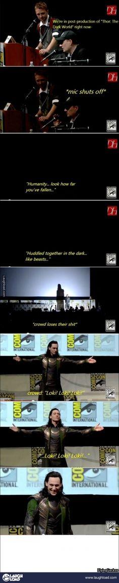 Tom Hiddleston being bad-ass..