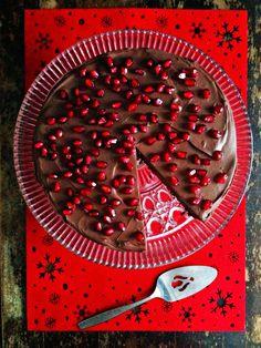 sweetsugarbean: Mocha Medjool Date Cake with Dark Chocolate Ganache
